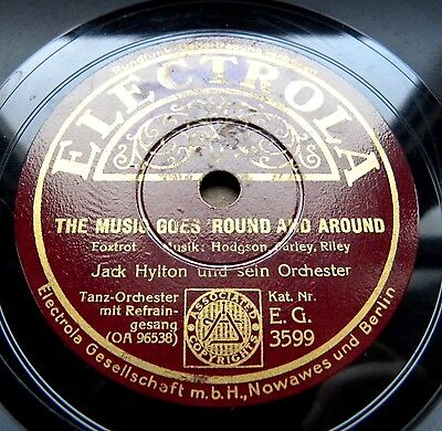 1134/ JACK HYLTON-Lights out-The music goes ´round and around-FOXTROTT-Schellack