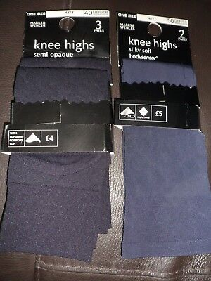 Marks & Spencer 2 packs Silky Soft and Opaque Knee Highs 40 and 50 Denier