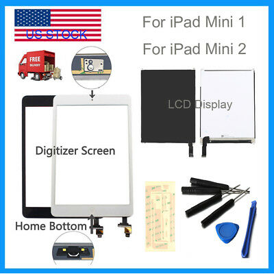 For iPad Mini 1 2 3 LCD Display&Touch Screen Glass Digitizer + Tool Replacement