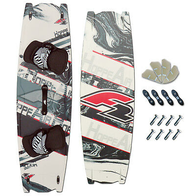 CROSSOVER KITEBOARD ~ F2 HOPPE AIR 142 x 42 CM + PADSET + FINNEN + HANDLE