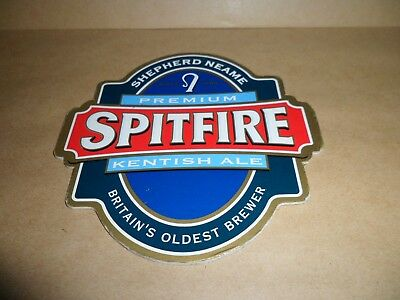 Round Shepherd Neame Spitfire Kentish Ale Beer Pump sign  For Man Cave etc