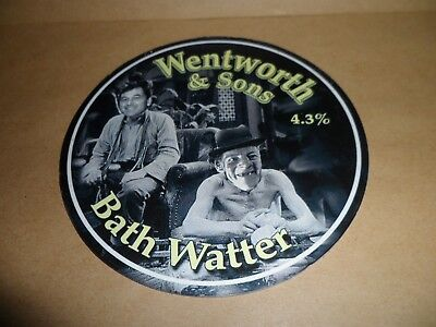 WENTWORTH A SONS BATH WATTER Ale Beer Pump Clip face Pub Bar Collectible
