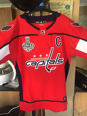 NHL Washington Capitals Stanley Cup Final Ovechkin Jersey Size Youth L/XL