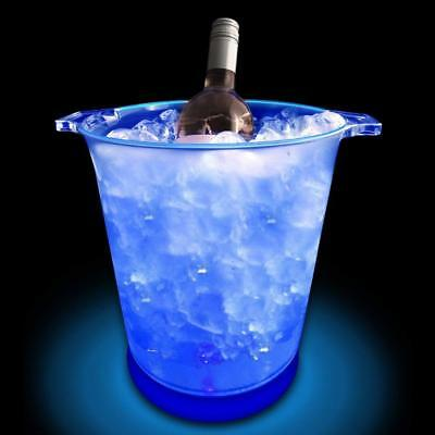 Light-Up Cool Blue Led Ice Bucket - Batteries Included