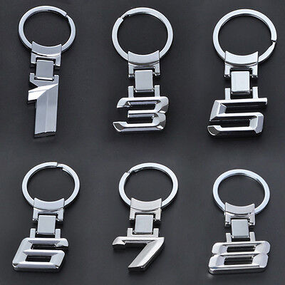 Car Number Logo Metal Key Chain keyring Key Ring For BMW 1 3 5 6 7 8 X Series