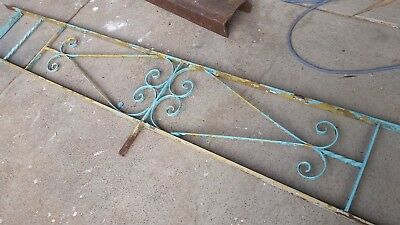 Vintage retro WROUGHT IRON FENCE PANEL garden trellis mid-century 60's