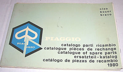 Vespa Vintage 1980 Moped Parts Manual  Piaggio  Sachs Puch Peugeot Sparta Foxi