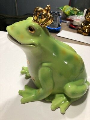 Juicy Couture Kiss My Couture Prince Charming Green Frog Bank With Chrown