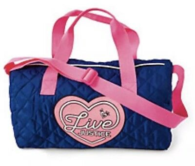 New Justice Girl's 'LIVE JUSTICE' Duffle Bag Travel Pink & Blue  💕💕💕💕