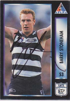 AFLPA 1994 Barry Stoneham Signed Geelong Cats Card