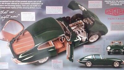 Awesome Deagostini Jaguar E Type # 62 Partwork 1:8 Scale Build Your Own Model  Stunning