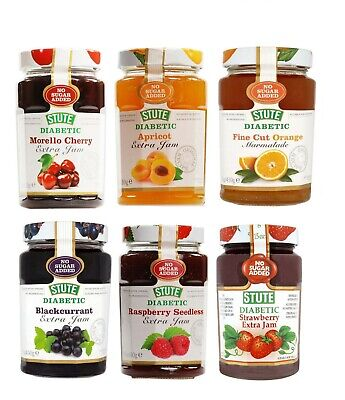 Stute Diabetic Jams 430g No Sugar Added (Choose Your Flavour)