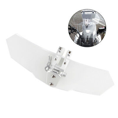 Motorcycle Clip On Windshield Screen Extension Wind Deflector Protect Universal