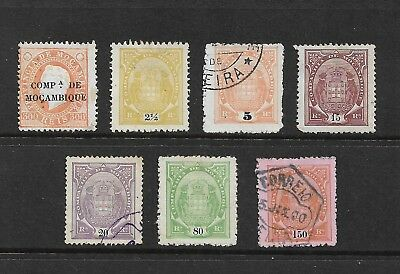 MOZAMBIQUE COMPANY mixed collection, 1892 overprint, 1895 Arms, mint MH & used
