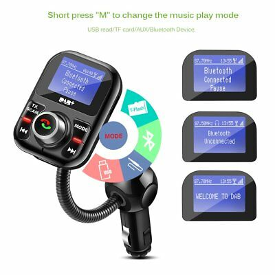 Car FM Transmitter DAB/DAB+ Receiver with Antenna Bluetooth USB Car Charger AUX