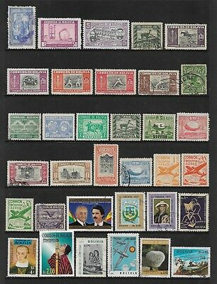 BOLIVIA mixed collection No.2, mint & used