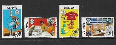 KENYA 1976 Telecommunications Development, set of 4, CTO