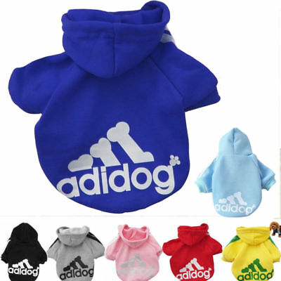 Casual Adidog Pet Clothes Warm Hoodie Coat Jacket suit Vêtement Pour Chien