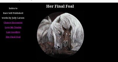 """""""HER FINAL FOAL"""" signed lithograph by Judy Larsen"""