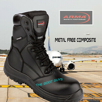 5d31d45bd02 COMBAT MILITARY WATERPROOF Safety Work Boots, Scout, Tactical Police Metal  Free