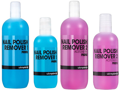 Salon System Profile Nail Polish Remover 1(BLUE) , 2(PINK)  500/125 ml *NEW*