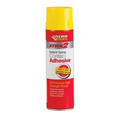 Everbuild Stick2 Instant Contact Adhesive All Purpose Spray High Strength 500ml