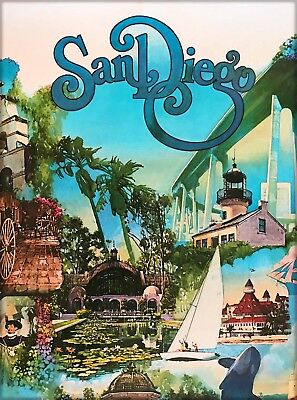 San Diego California Vintage United States Travel Advertisement Art Poster Print