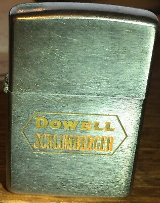 Vintage 1966 Zippo Dowell Schlumberger Collectible Advertiser Lighter