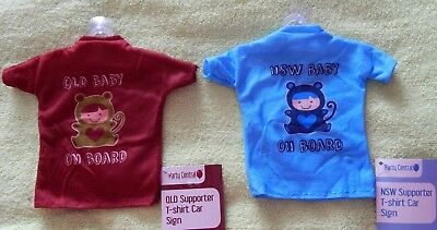 NSW QLD BABY on BOARD Blue Maroon T-Shirt CAR Window Sign Sport Support Novelty