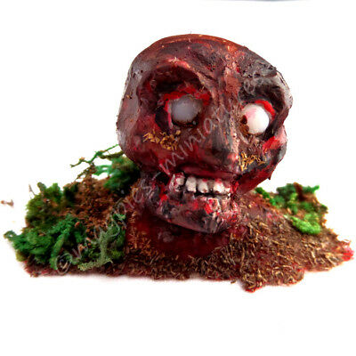 Dolls House 12th scale Zombie Head scary Halloween