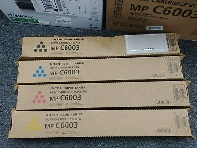 Genuine RICOH SAVIN LANIER MP C6003 Print Cartridge Set