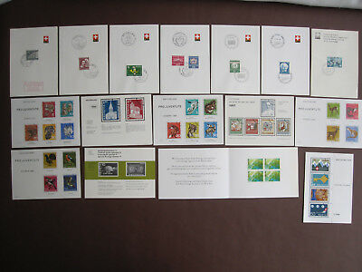 Switzerland - 21 philatelic items from period 1955 to 2007 - all pictured