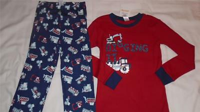NEW Boys Size 10 Gymboree Outlet Gymmies Pajamas DIGGING IT Dump Truck Digger
