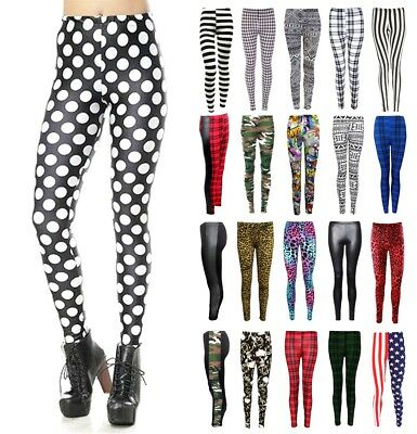 Ladies Jeggings Stretchy Pants Skinny Leggings Women Full Length Printed Legging