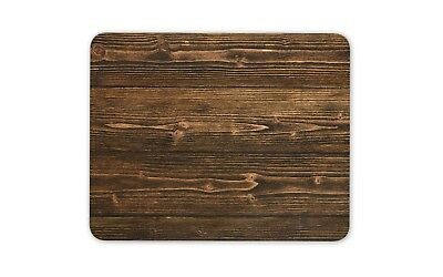 Dark Wood Effect Mouse Mat Pad - Wooden Dad Office Funny Gift Computer #13186