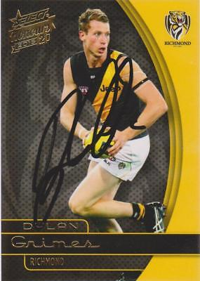 AFL Select 2015 Dylan Grimes Signed Richmond Tigers Card