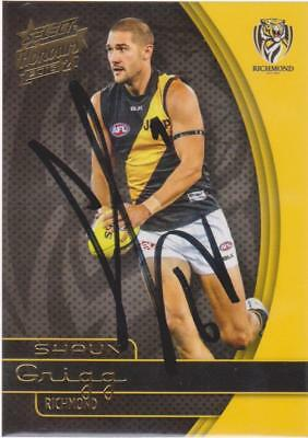 AFL Select 2015 Shaun Grigg Signed Richmond Tigers Card