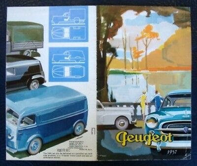 Peugeot Range Brochure (Inc Commercials) 1957.