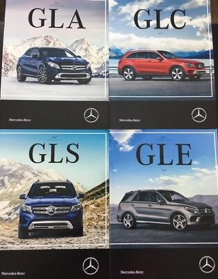 Mercedes Benz Brochures GLA GLS GLC GLE Brand New Dealership Catalogs
