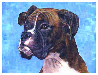 artav Boxer 05 Dog Pet Art Print of Acrylic on Canvas