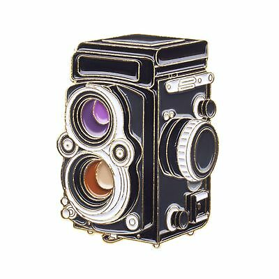Rolleiflex Gold Film Camera Pin