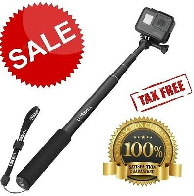 GoPro Hero 5 Sessions Selfie Stick Adjustable Telescoping Monopod Pole Black NEW