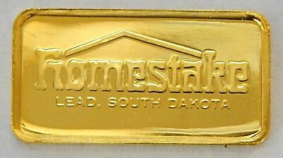 Homestake Gold Mine Ingot 2.675g 24K 1977 Franklin Mint w/Display Box 7015