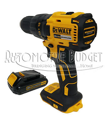 "DeWalt 20v 1/2"" Compact Brushless Drill/Driver Kit w/1 Battery - NEW"
