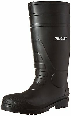 "Tingley Waterproof Boots Over The Sock 15"" High Size 8 Black PVC Mud Water NEW"