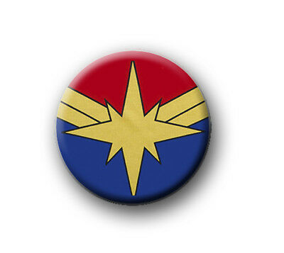 "CAPTAIN MARVEL 1"" / 25mm / pin button / badge / film movie / Marvel / Avengers"