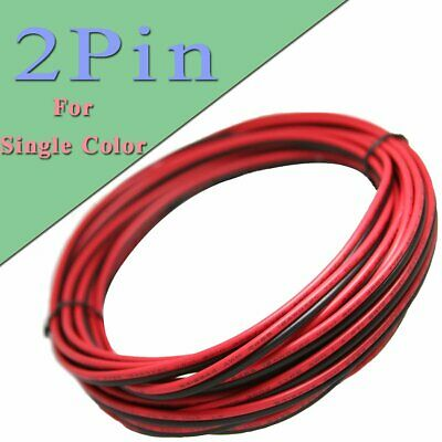 100M 2Pin Extension Wire Cable Cord for 3528 5050 5630 LED Strip 18 20 22 24 AWG