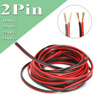 2 Pin Extension Wire Cable for 3528 5050 LED Strip Single Colour 18 20 22 24 AWG