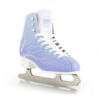 Rio Roller Moonlight Blue Figure Ice Skate Adults/Kids - Optional Blade Guards