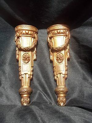 PAIR OF FRENCH ANTIQUE BRONZE EMPIRE REVIVAL ORNATE  furniture ADORNMENTS